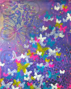 Cosmic Butterflies Purple